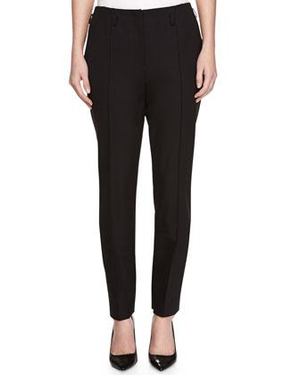 Slim Bi-Stretch Wool Pants