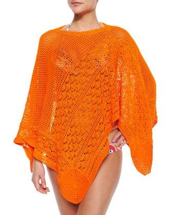 Sfumato Bright Knit Poncho Coverup