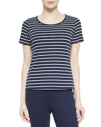 Short-Sleeve Striped Top