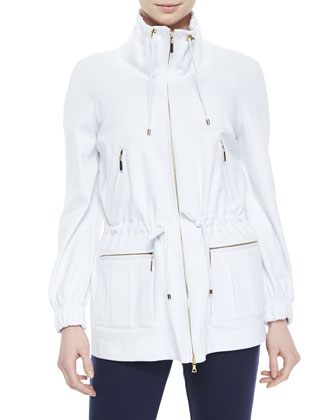 Drawstring Zip-Front Jacket