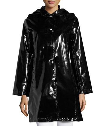 Princess Raincoat with Detachable Hood, Black