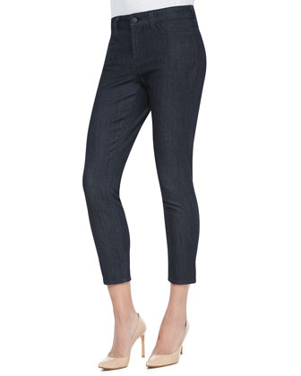 Angie Super Skinny Ankle Jeans, Dark Denim