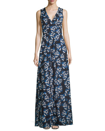 Sleeveless Floral Maxi Dress