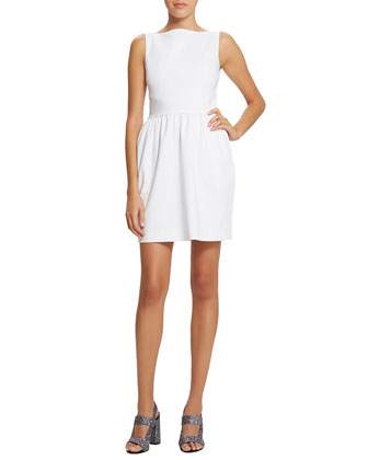 Cara Cross-Back Dress, Eraser