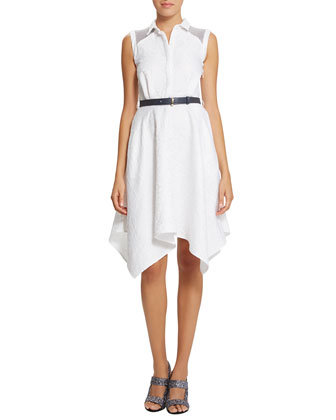 Piper Belted Trapeze Shirtdress, Eraser
