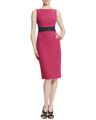 Cara Sleeveless Colorblock Body-Conscious Dress