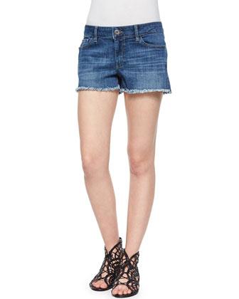 Lola Frayed Denim Cutoff Shorts
