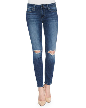 The Mid-Rise Skinny Ankle Jeans, Terra