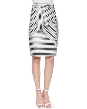 Striped Tie-Waist Skirt