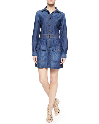 Le St Tropez Denim Shirtdress, Earldom
