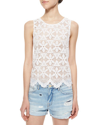 Le Lace Scalloped Tank