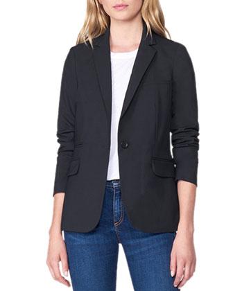 Classic Crepe Jacket, Navy
