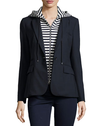 Classic Jacket with Striped Hoodie Dickey