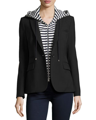 Classic Jacket with Striped Dickey