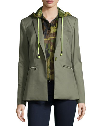 Cutaway Jacket with Camo Dickey