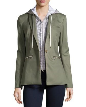 Cutaway Jacket with Lace Dickey