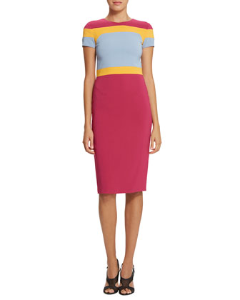 Trinity Colorblock Body-Conscious Dress