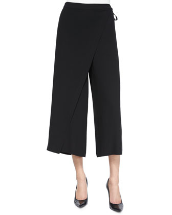 Karate Cropped Silk Pants