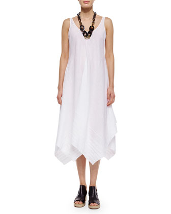 Organic Linen Scoop-Neck Tank Dress