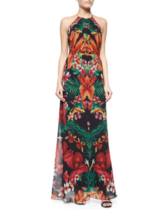 Tropical Toucan Maxi Dress