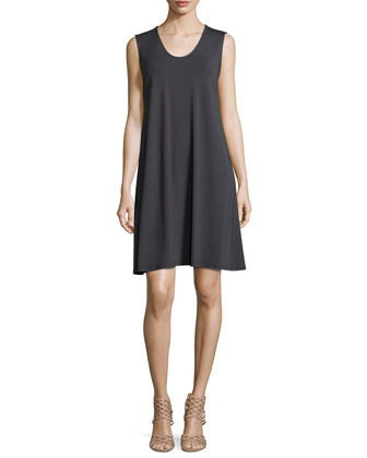 Sleeveless A-line Tank Dress, Petite