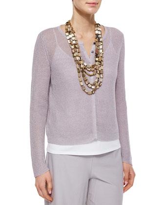 Organic Linen Snap-Front Jacket, Women's