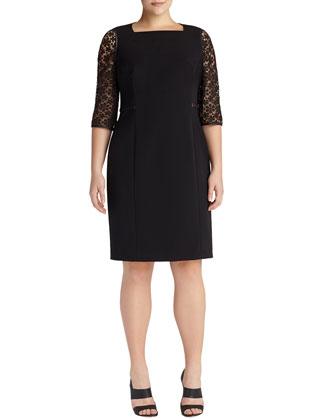 Kriya Lace-Inset Sheath Dress, Women's