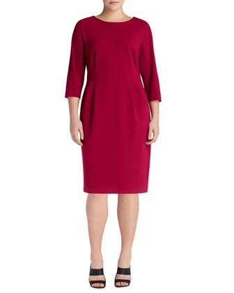 3/4-Sleeve Sheath Dress, Wildflower, Women's
