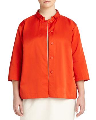 Claudette Couture Cloth Snap Topper Jacket, Women's