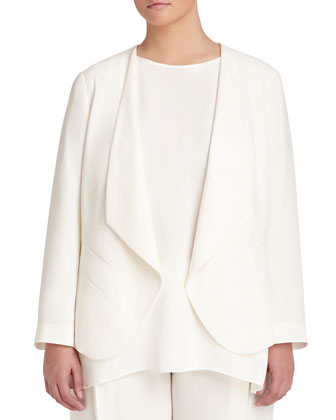 Becca Open Crepe Jacket, Women's