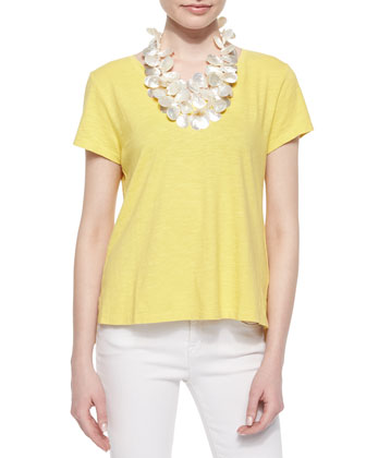 Short-Sleeve Organic Cotton Tee, Petite