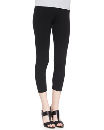 Lightweight Jersey Cropped Leggings, Women's