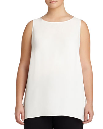 Merryn Sleeveless Silk Blouse, Women's