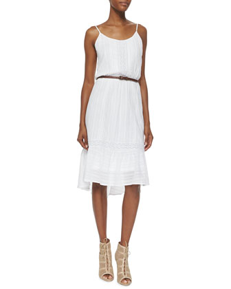 Knit Lace Sundress, White