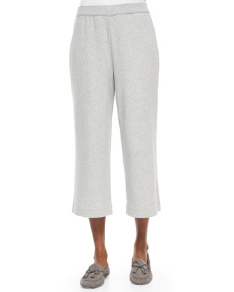 Cropped Cotton Interlock Pants, Petite