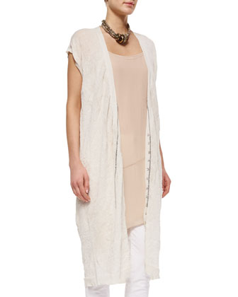 Fisher Project Long Crinkled Vest