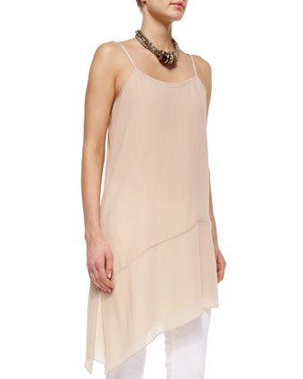 Fisher Project Sheer Silk Asymmetric Tunic/Dress