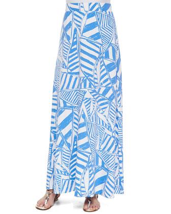 Nola Printed Maxi Skirt