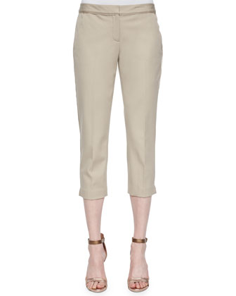 Alanis Cropped Pants, Khaki