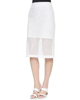 Bretta Eyelet Pencil Skirt