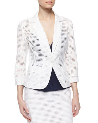 Alvah One-Button Eyelet Jacket