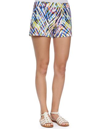 Corbin Animal-Print Shorts