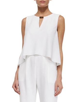 Esther Sleeveless Keyhole Popover Top