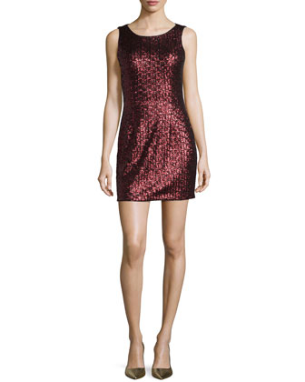 Stretch Sequined Sheath Dress