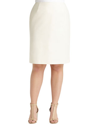 Modern Slim Crepe Skirt, Women's