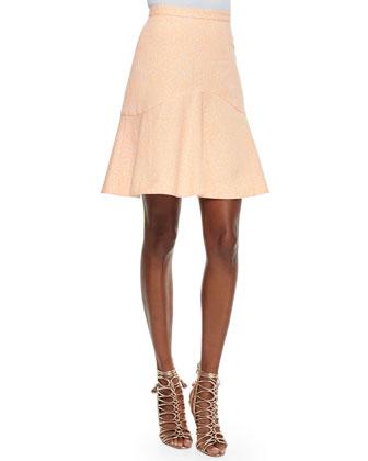 Eden Flounce-Hem Skirt