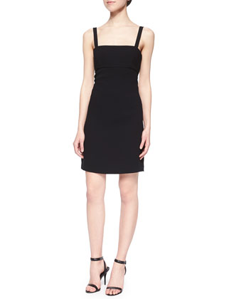 Back-Cutout Bandeau Sheath Dress