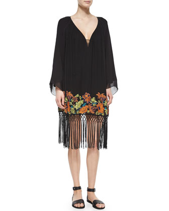 Seychelle Embroidered Drape Dress