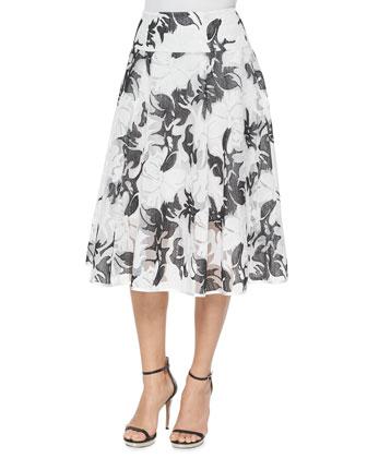 Escapade Midi Floral-Print Skirt