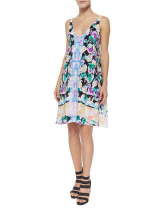 Wildflower Sleeveless Cocktail Dress